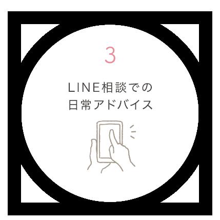 3.LINE相談での日常アドバイス