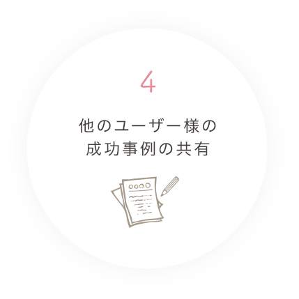 4.他のユーザー様の成功事例の共有